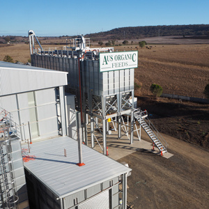 Aus Organic Feed Mill looking north-west
