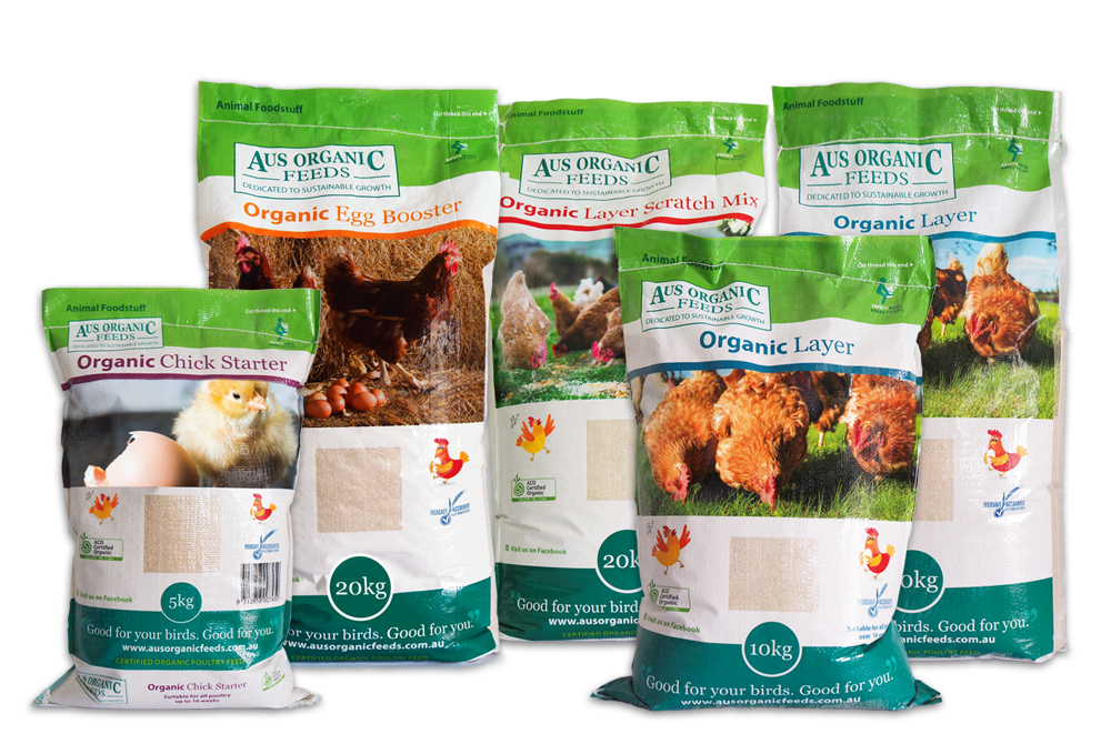 Aus Organic Feeds Range of Organic Chicken Feeds