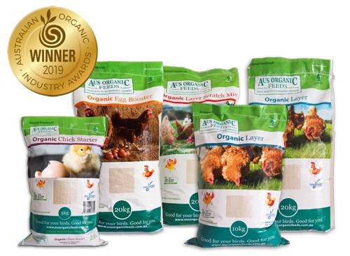 Aus Organic Feeds award-winning range of Poultry Feed